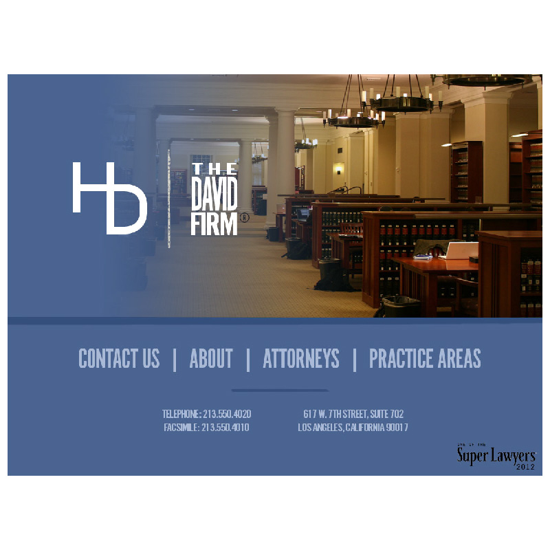 The David Firm - Attorneys, Los Angeles California | Website
