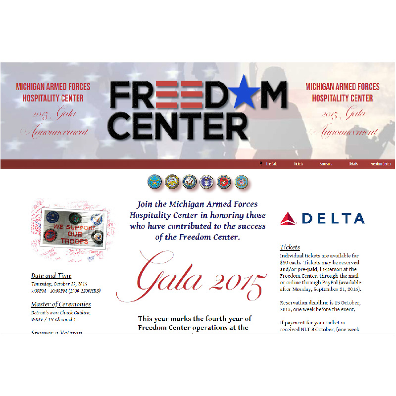 Michigan Armed Forces Hospitality Center, Detroit Michigan | Gala Event Website